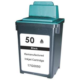 Remanufactured Lexmark 17G0050 (#50 ink) inkjet cartridge - black cartridge