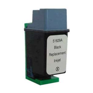 Remanufactured HP 51629A (HP 29 ink) inkjet cartridge - black cartridge