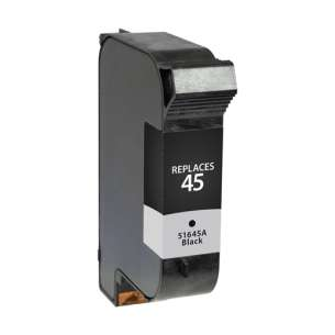 Remanufactured HP 51645A (HP 45 ink) inkjet cartridge - black cartridge