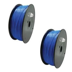 2 PACK bison3D Filament for 3D Printing, 1.75mm, 1kg/Roll, Blue (ABS)