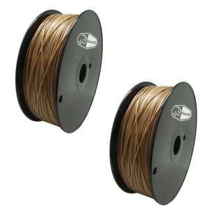 2 PACK bison3D Filament for 3D Printing, 1.75mm, 1kg/roll, Gold (ABS)