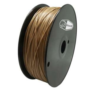 3D Filament (Bison3D brand) for 3D Printing, 1.75mm, 1kg/roll, Gold (ABS)