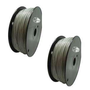 2 PACK bison3D Filament for 3D Printing, 1.75mm, 1kg/roll, Gray (ABS)