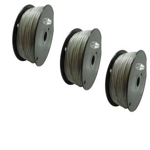 3 PACK bison3D Filament for 3D Printing, 1.75mm, 1kg/roll, Gray (ABS)