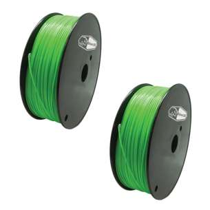 2 PACK bison3D Filament for 3D Printing, 1.75mm, 1kg/Roll, Green (ABS)