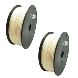 2 PACK bison3D Filament for 3D Printing, 1.75mm, 1kg/Roll, Nature (ABS)