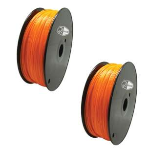 2 PACK bison3D Filament for 3D Printing, 1.75mm, 1kg/roll, Orange (ABS)