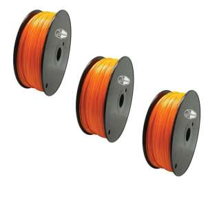 3 PACK bison3D Filament for 3D Printing, 1.75mm, 1kg/roll, Orange (ABS)