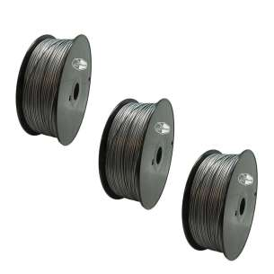 3 PACK bison3D Filament for 3D Printing, 1.75mm, 1kg/roll, Silver (ABS)