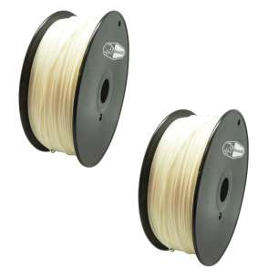 2 PACK bison3D Filament for 3D Printing, 1.75mm, 1kg/roll, White (ABS)