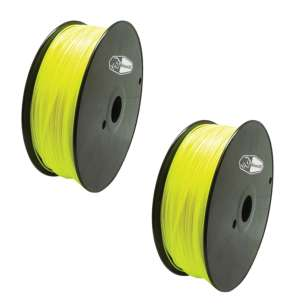2 PACK bison3D Filament for 3D Printing, 1.75mm, 1kg/Roll, Yellow (ABS)
