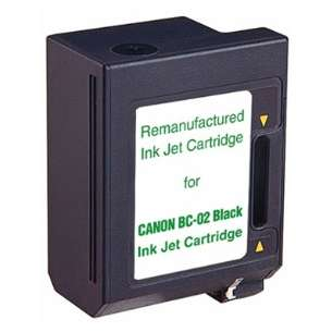 Remanufactured Canon BC-02 inkjet cartridge - black cartridge