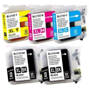 Compatible inkjet cartridges Multipack for Brother LC103 / LC101 - 5 pack