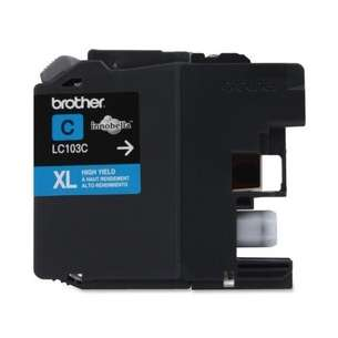 OEM Genuine Brother LC103C inkjet cartridge - cyan