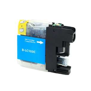 Compatible ink cartridge to replace Brother LC103C / LC101C - high yield cyan