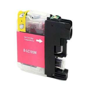 Compatible ink cartridge to replace Brother LC103M / LC101M - high yield magenta