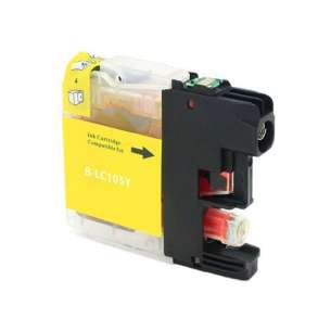 Compatible ink cartridge to replace Brother LC103Y / LC101Y - high yield yellow