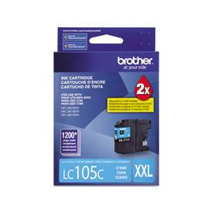 OEM Genuine Brother LC105C inkjet cartridge - cyan