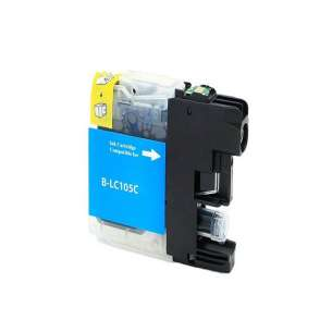 Compatible ink cartridge to replace Brother LC105C - super high yield cyan