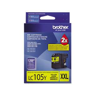 OEM Genuine Brother LC105Y inkjet cartridge - yellow