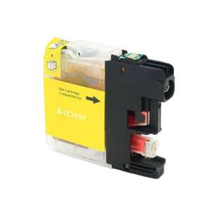 Compatible ink cartridge to replace Brother LC105Y - super high yield yellow