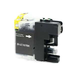 Compatible ink cartridge to replace Brother LC107BK - super high yield black