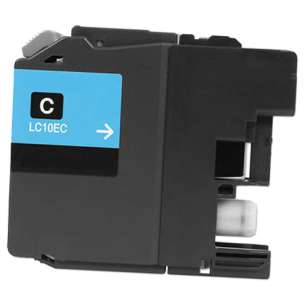 Compatible ink cartridge to replace Brother LC10EC - super high yield cyan
