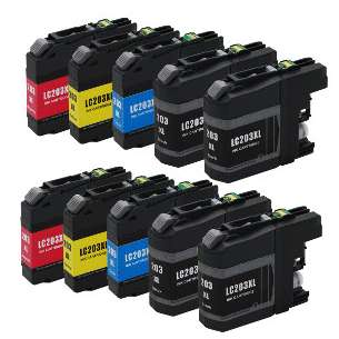 Compatible inkjet cartridges Multipack for Brother LC203 - 10 pack