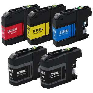 Compatible inkjet cartridges Multipack for Brother LC203 - 5 pack