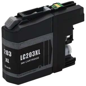 Compatible ink cartridge to replace Brother LC203BK - high yield black