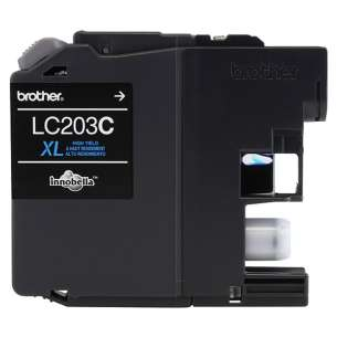 OEM Genuine Brother LC203C inkjet cartridge - high yield cyan