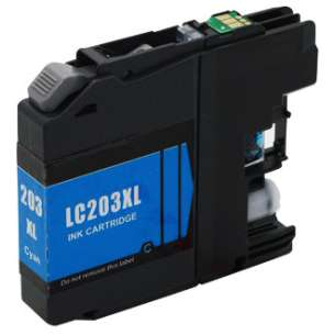 Compatible Ink Cartridge To Replace Brother LC203C - High Yield Cyan