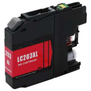 Compatible Ink Cartridge To Replace Brother LC203M - High Yield Magenta