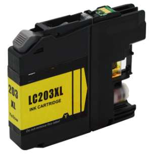 Compatible Ink Cartridge To Replace Brother LC203Y - High Yield Yellow