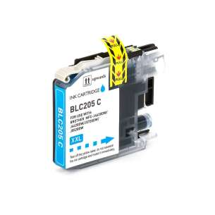 Compatible ink cartridge to replace Brother LC205C - super high yield cyan