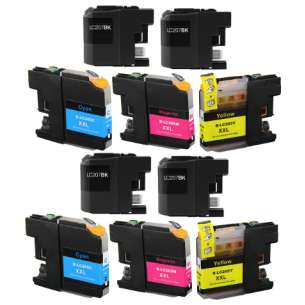 Compatible inkjet cartridges Multipack for Brother LC207 / LC205 - 10 pack