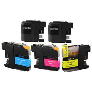 Compatible inkjet cartridges Multipack for Brother LC207 / LC205 - 5 pack