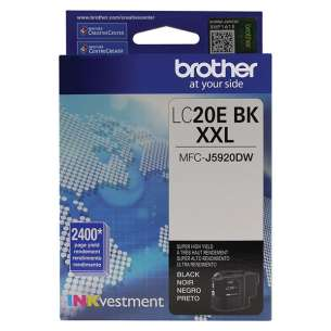 Original Brother LC20EBK inkjet cartridge - super high yield black