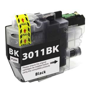 Canada Region Compatible Inkjet Cartridge for Brother LC3011BK - black