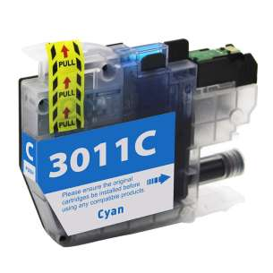 Canada Region Compatible Inkjet Cartridge for Brother LC3011C - cyan