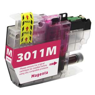 Canada Region Compatible Inkjet Cartridge for Brother LC3011M - magenta