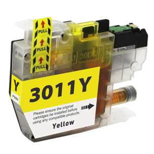 Canada Region Compatible Inkjet Cartridge for Brother LC3011Y - yellow