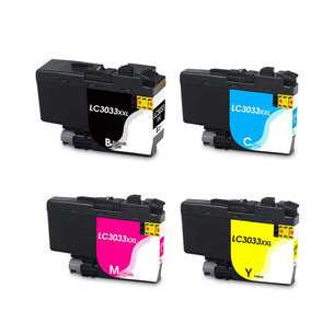 Compatible inkjet cartridges Multipack for Brother LC3033 - 4 pack