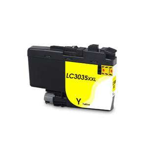 Compatible inkjet cartridge for Brother LC3035Y - ultra high yield yellow