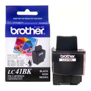 OEM Genuine Brother LC41BK inkjet cartridge - black cartridge
