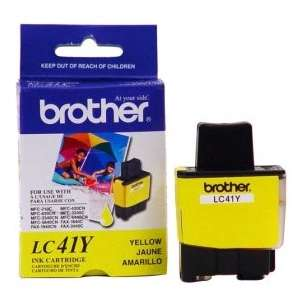 OEM Genuine Brother LC41Y inkjet cartridge - yellow