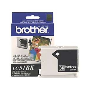 OEM Genuine Brother LC51BK inkjet cartridge - black cartridge