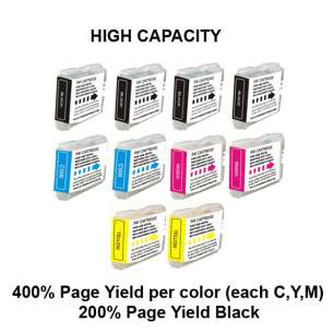 Compatible inkjet cartridges Multipack for Brother LC51 - 10 pack