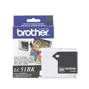 OEM Genuine Brother LC51HYBK inkjet cartridge - black cartridge