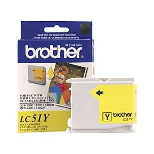 OEM Genuine Brother LC51Y inkjet cartridge - yellow